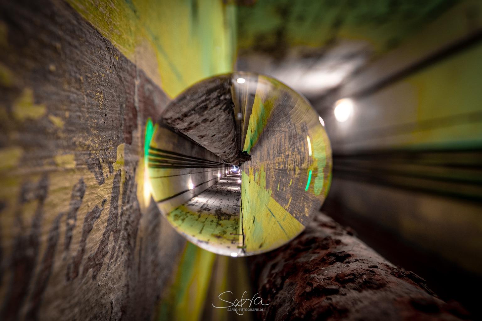 Glaskugelfotografie Bunker