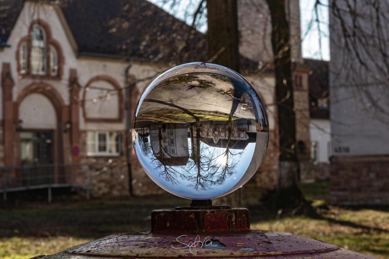 Glaskugelfotografie Babenhäuser Kaserne, Kaisergärten