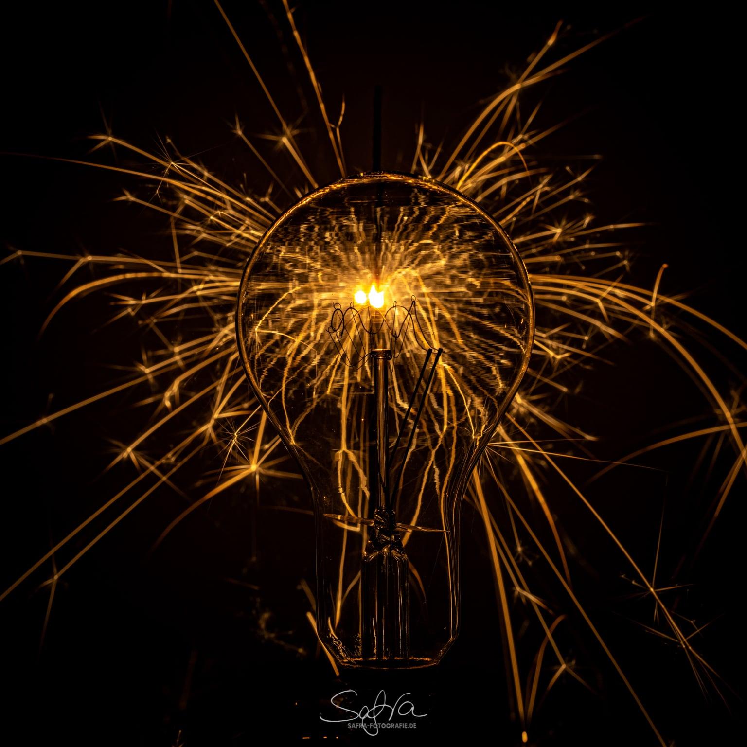 Lightpainting, Glühbirne
