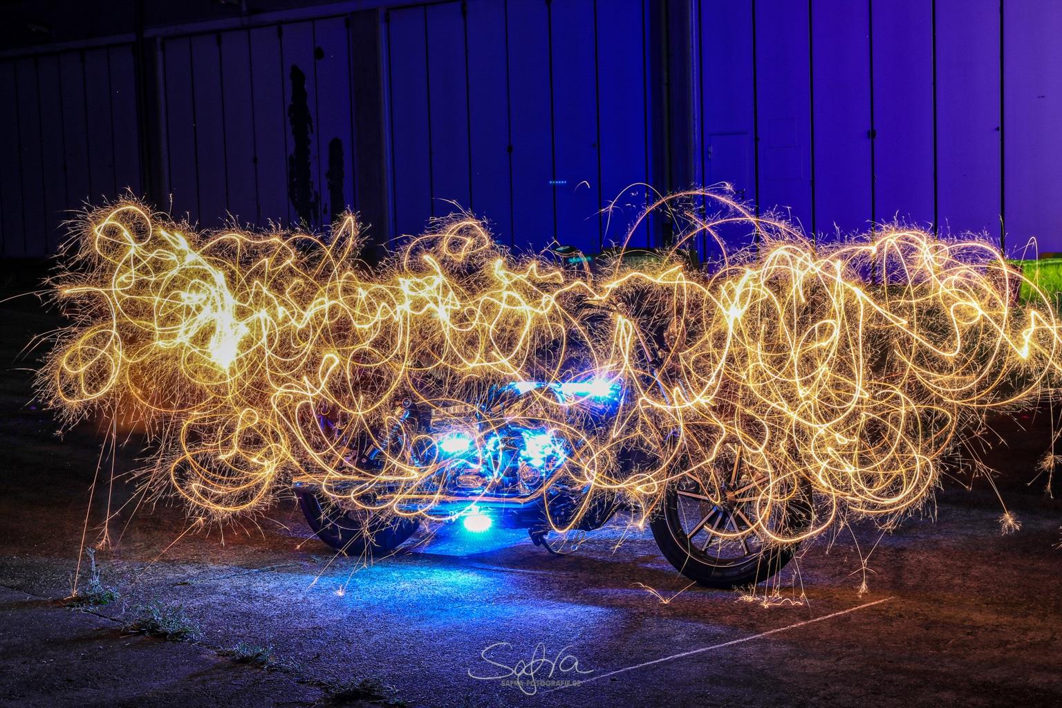 Lightpainting Harley