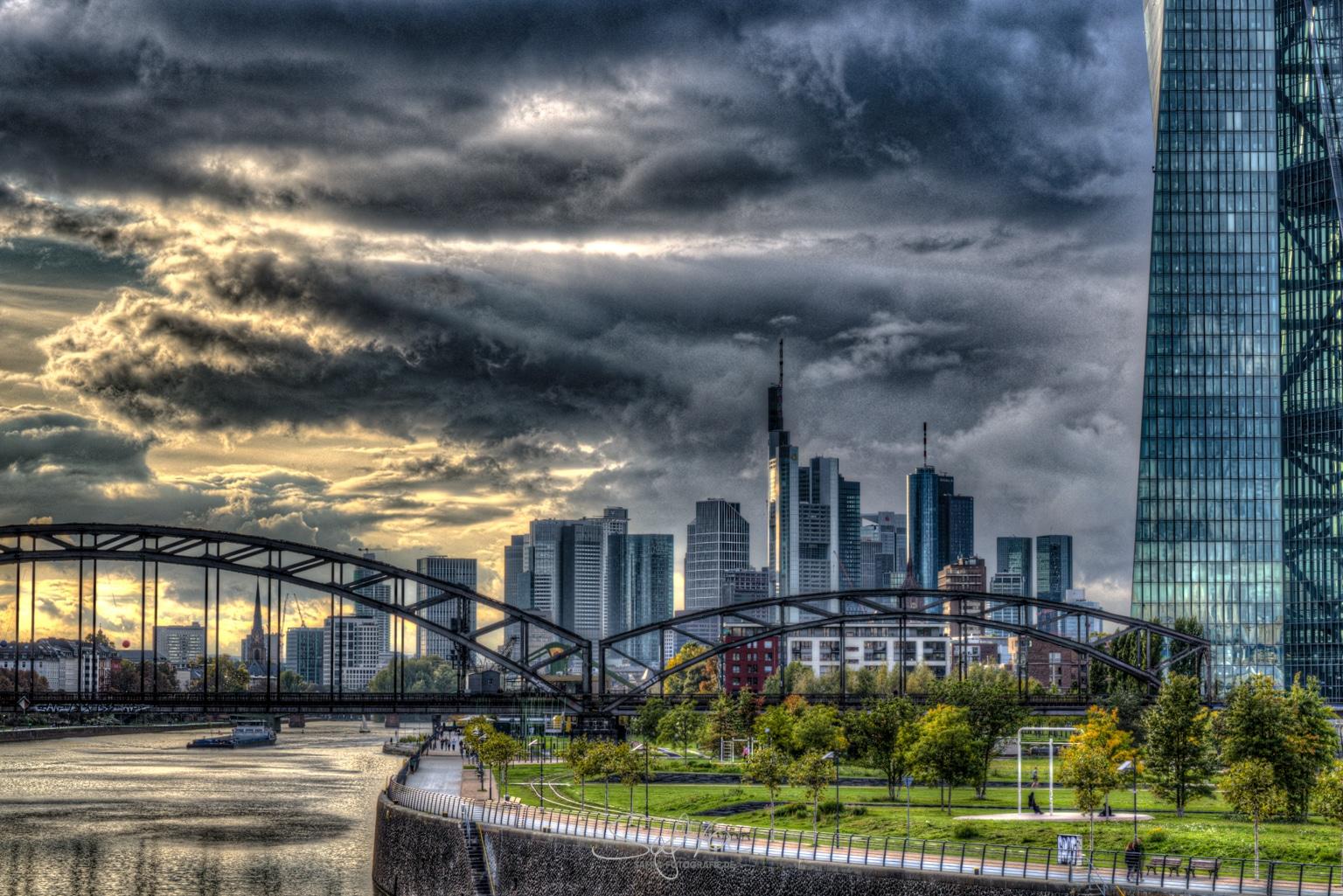 Frankfurt, Skyline, HDR